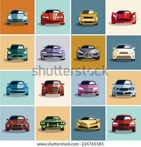 car icons flat style car icon