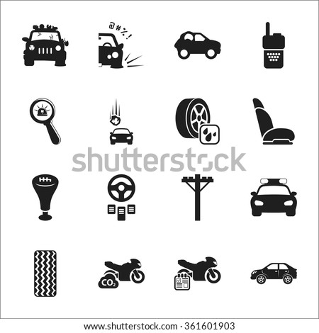 car icons set car icons simple