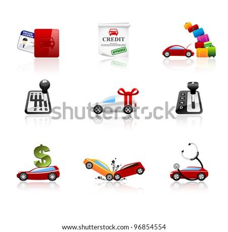 Car Finance Icon Car Icons Set