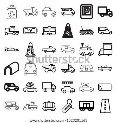 car icons set of 36 editable