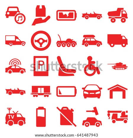 car icons set set of 25 car