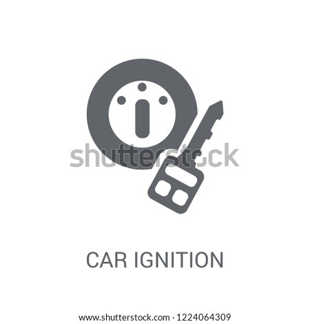 car ignition icon. Trendy car ignition logo concept on white background from car parts collection. Suitable for use on web apps, mobile apps and print media.