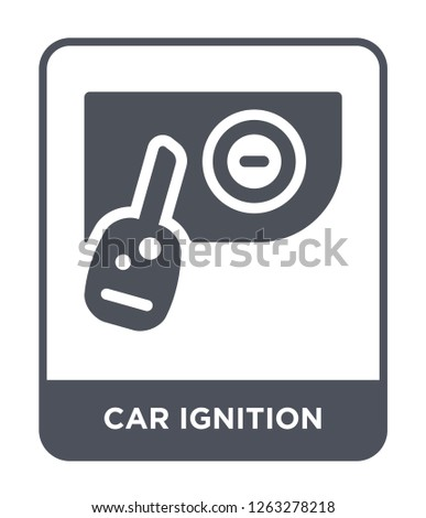 car ignition icon vector on white background, car ignition trendy filled icons from Car parts collection, car ignition simple element illustration
