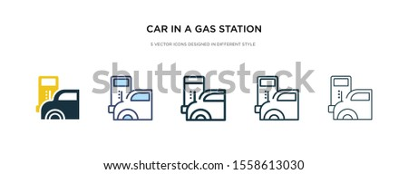 car in a gas station icon in