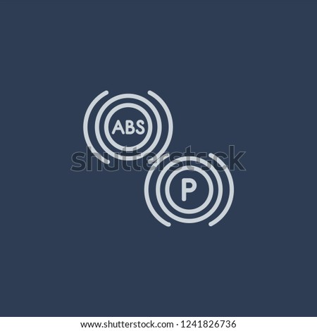 car indicator icon. car indicator linear design concept from Car parts collection. Simple element vector illustration on dark blue background.