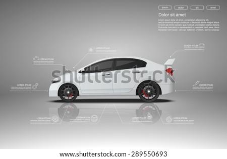 car infographics designvector