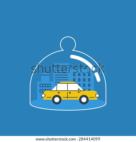 Car insurance concept. Auto theft preventive measures. Сток-фото ©