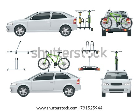 car is transporting bicycles on