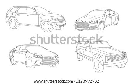 Car isolated illustration icon,Vector line, Transport icon, Auto icon, Sport car, Modern auto, Transportation concept, Line vector, Rent car