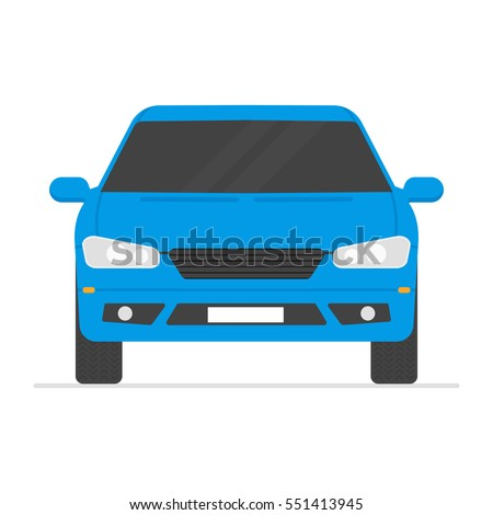 Car isolated vector illustration. Automobile in white background.