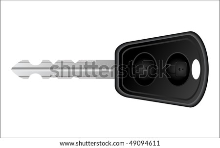 car key - stock vector
