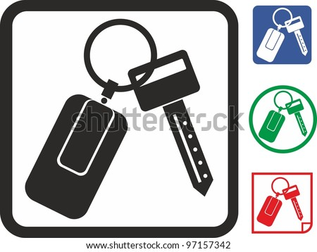 Car key vector icon