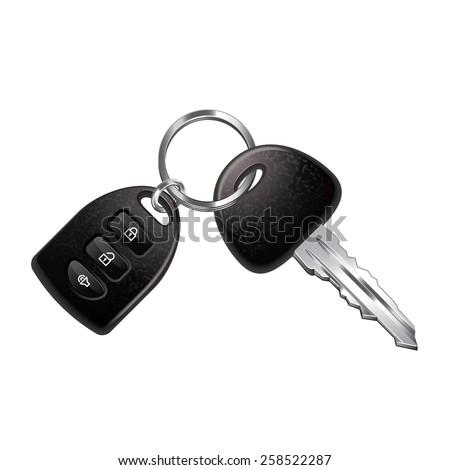 Car keys isolated on white photo-realistic vector illustration ストックフォト ©