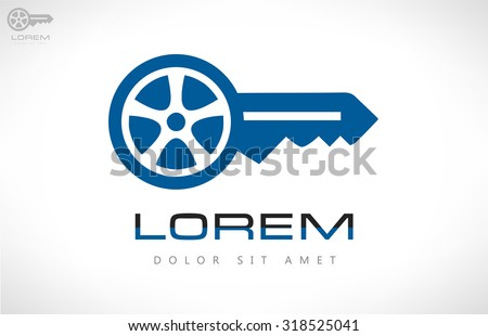 car keys vector car logo