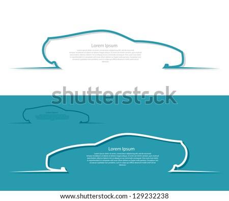 Car labels - vector illustration