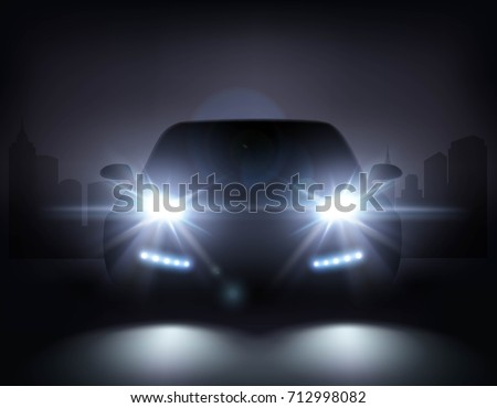 car lights realistic