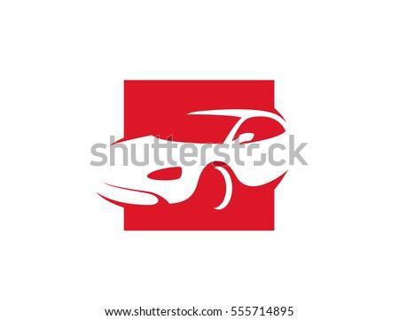 car line art in square shape