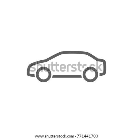 Car line icon vector. Transportation concept.
