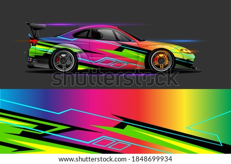car livery design with sporty abstract background