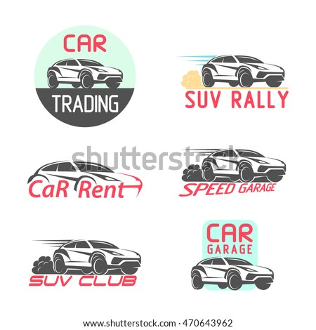 Royalty Free Set Of Sport Car Racing Logo Emblems 468837146 Stock