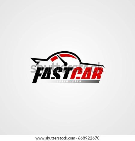 car logo icon template design