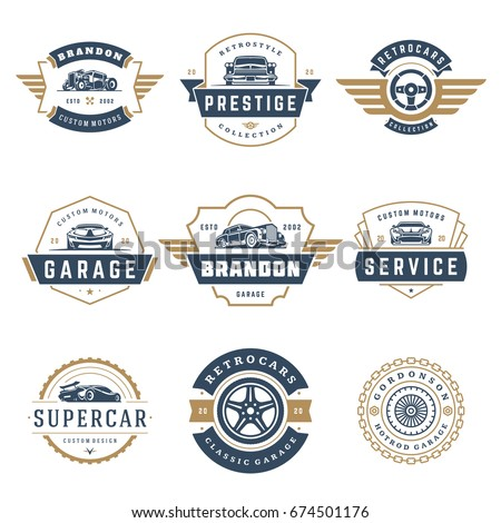 car logos templates vector