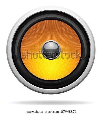 Car Loudspeaker Icon - stock vector