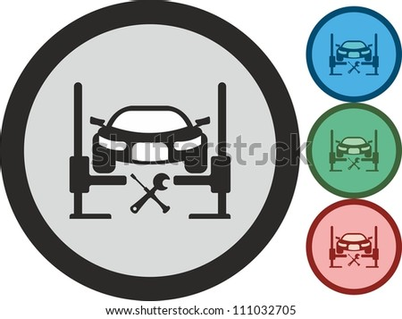 Car, maintenance, vector, icon