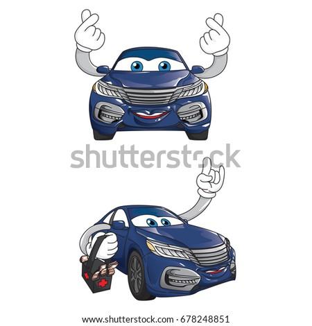 car mascot character design