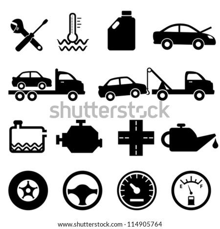 Vehicle Maintenance Icon And Maintenance Icon Set