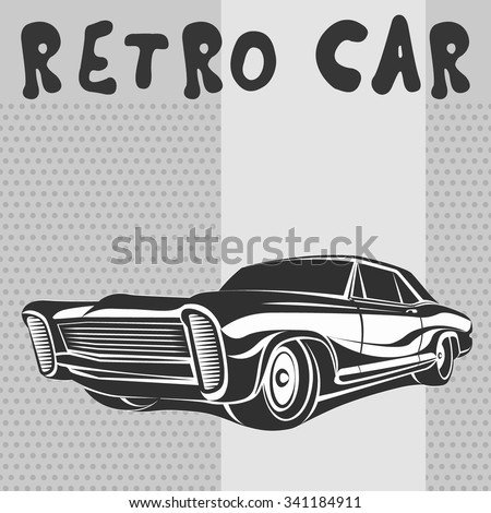 car muscle retro poster grey 70