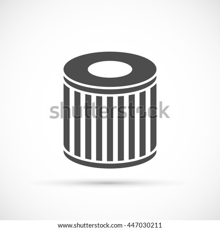 Car oil filter icon