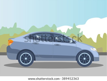 car on a nice nature background