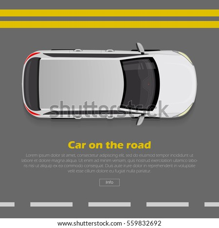 car on road conceptual web