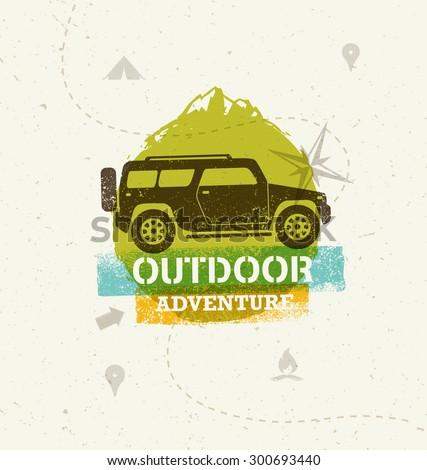 car outdoor mountain adventure