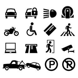 Car Park Parking Area Sign Symbol Pictogram Icon Reminder