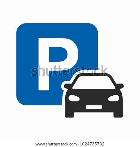 car parking icon parking space
