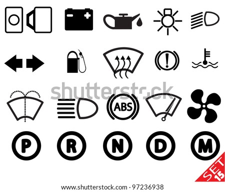 Car part icon set 15. Vector Illustration.