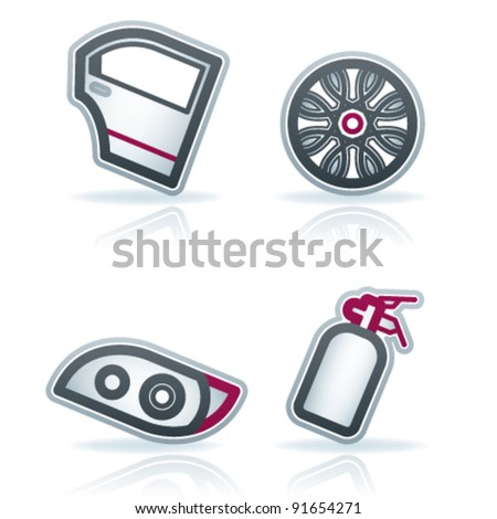 Auto Racing Accessories on Car Parts And Accessories Stock Vector 91654271   Shutterstock