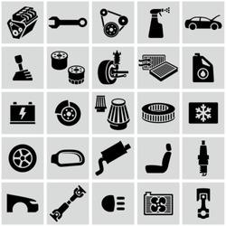 Car parts icons