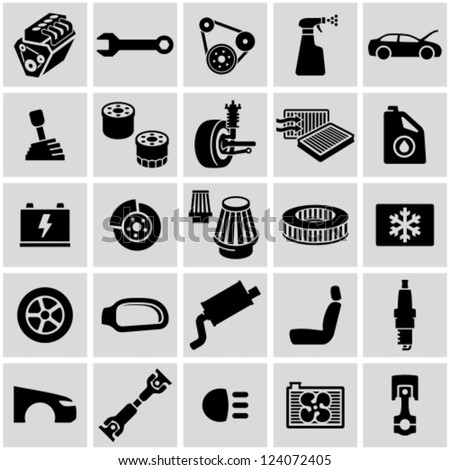 Car parts icons