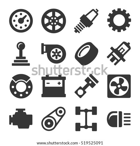 Car Parts Icons Free Download