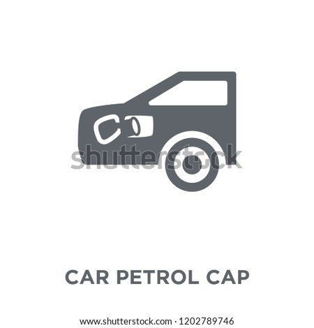 car petrol cap icon. car petrol cap design concept from Car parts collection. Simple element vector illustration on white background.
