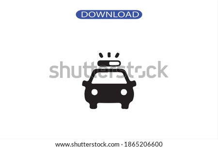 car police icon or logo isolated sign symbol vector illustration - high quality black style vector icons. Foto stock ©