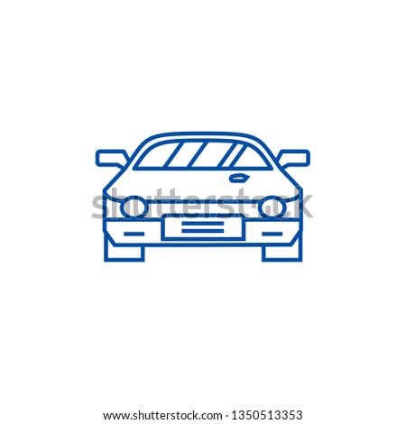 Car race,racing line icon concept. Car race,racing flat  vector symbol, sign, outline illustration.