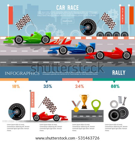 car racing infographic  auto