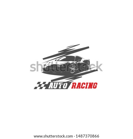 car racing , speed , street , fast race , sports logo design concept