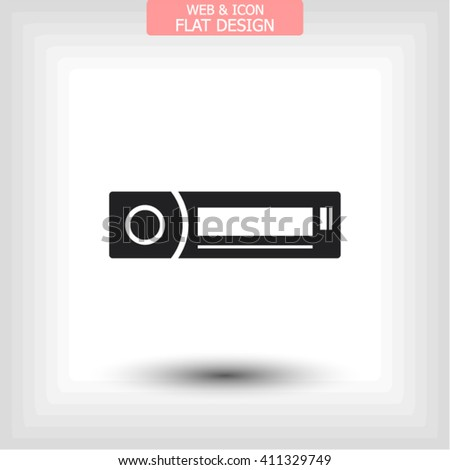 car radio icon vector 10 eps