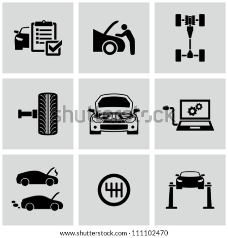 Car Repair - stock vector