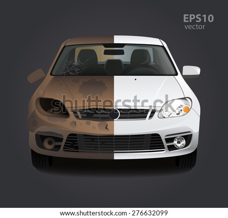 car repair before and after